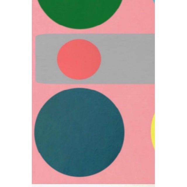 Abstract Original Abstract Geometric Painting by Brooks Burns For Sale - Image 3 of 3