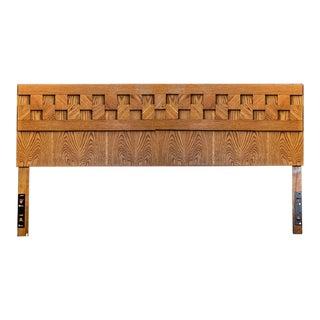 1970s Brutalist Lane Furniture King Headboard For Sale