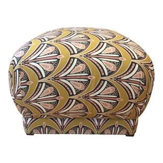 Fabric Pouf Ottoman For Sale
