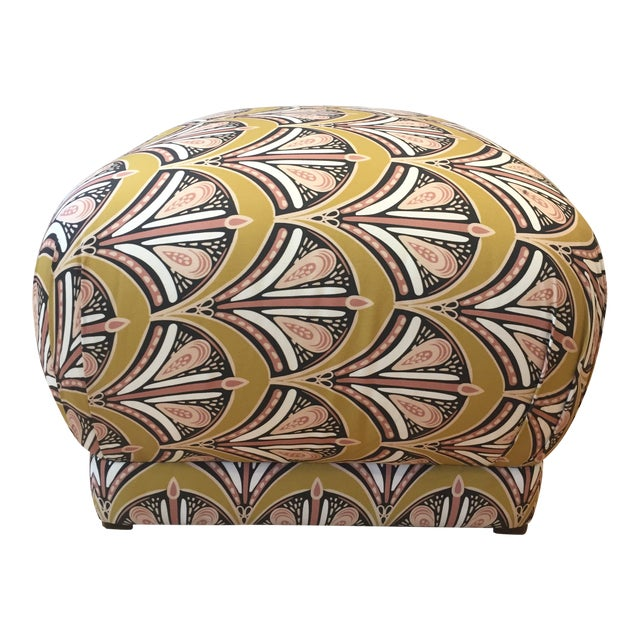 Fabric Pouf Ottoman For Sale