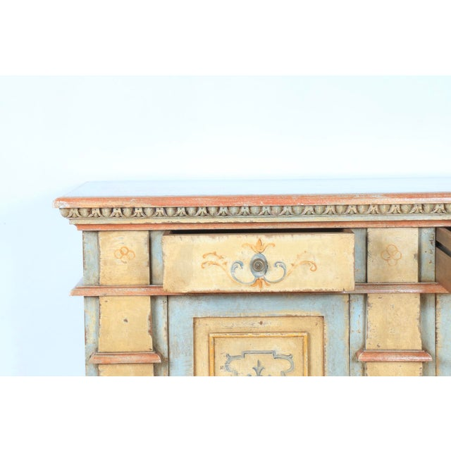 1970s Hand Painted Italian Cabinet For Sale - Image 4 of 13