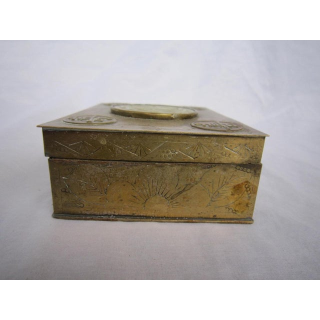 Chinese Brass & Jadeite Box For Sale - Image 6 of 7