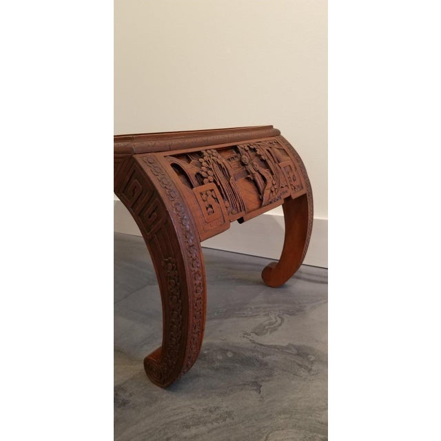 Mid 20th Century Carved Chinese Coffee Table For Sale - Image 5 of 10