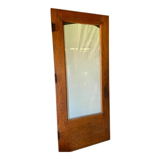 19th Century Exterior Door Wood Glass Full View Entry Front For Sale