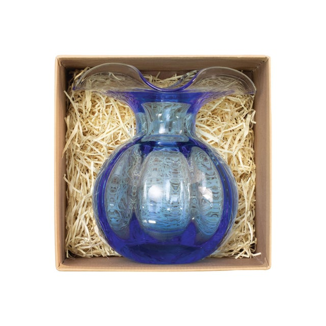 Mouthblown in Tuscany, the Vietri Hibiscus Small Cobalt Glass Bud Vase comes nestled in a signature gift box, complete...
