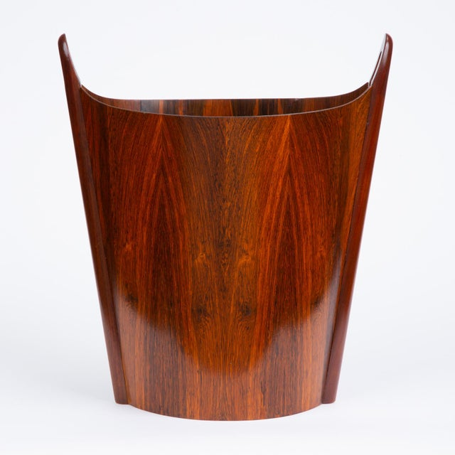Norwegian Rosewood Wastebasket by Einar Barnes for P.S. Heggen For Sale In Los Angeles - Image 6 of 12