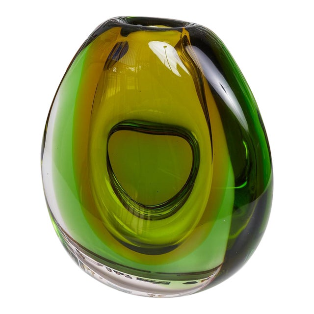Sommerso Murano Glass Vase by Flavio Poli For Sale
