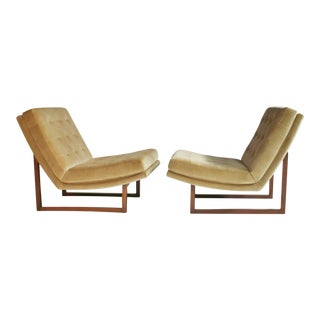 Milo Baughman Slipper Chairs For Sale