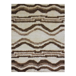 """Aara Rugs Inc. Hand Knotted Navajo Style Rug - 4'0"""" X 6'7"""" For Sale"""