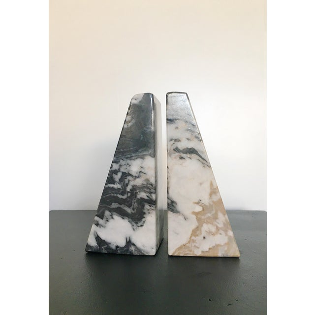 Hollywood Regency Vintage Marble Bookends - a Pair For Sale - Image 3 of 5