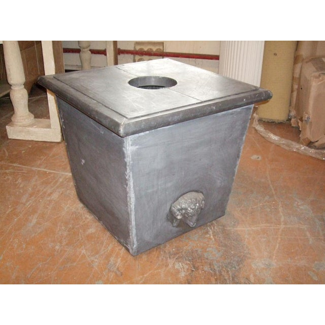 Zinc Planter with Ram's Head For Sale In Boston - Image 6 of 6