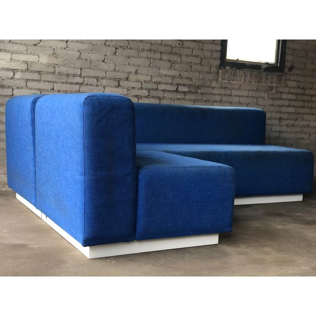 Blue Vintage 1972 Knoll Modular Sectional Sofa For Sale - Image 8 of 13