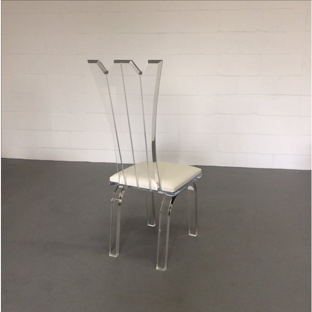 Lucite Dining Chairs - Set of 6 - Image 3 of 8