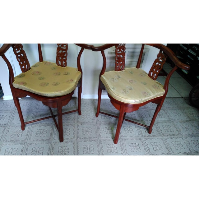 Chinese Solid Rosewood Corner Chairs - A Pair For Sale - Image 11 of 11