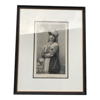 Framed Engraving of the Young Bride For Sale