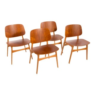 1950s Børge Mogensen Dining Chairs - Set of 4 For Sale