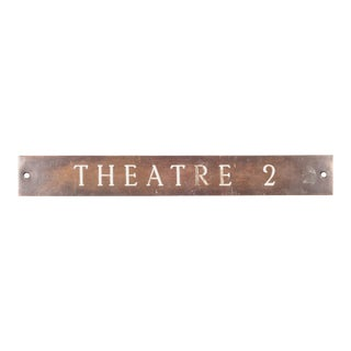 Solid Bronze and Enamel Theatre Sign C.1920 For Sale