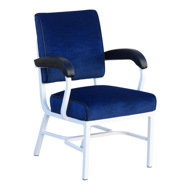 General Fireproofing Aluminum Tanker Armchair, Refinished For Sale