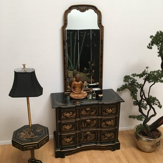 Drexel Heritage Et Cetera Chinoiserie Hand Painted Dresser and Mirror Preview