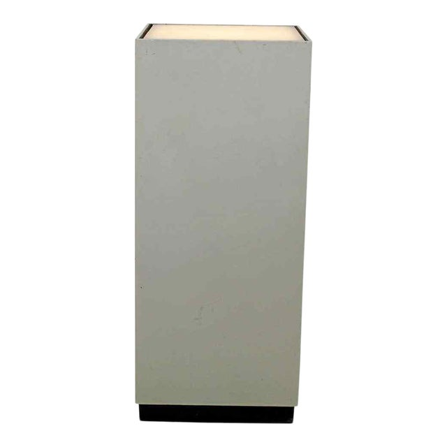 Contemporary Modern Square Lighted Display Pedestal Table For Sale
