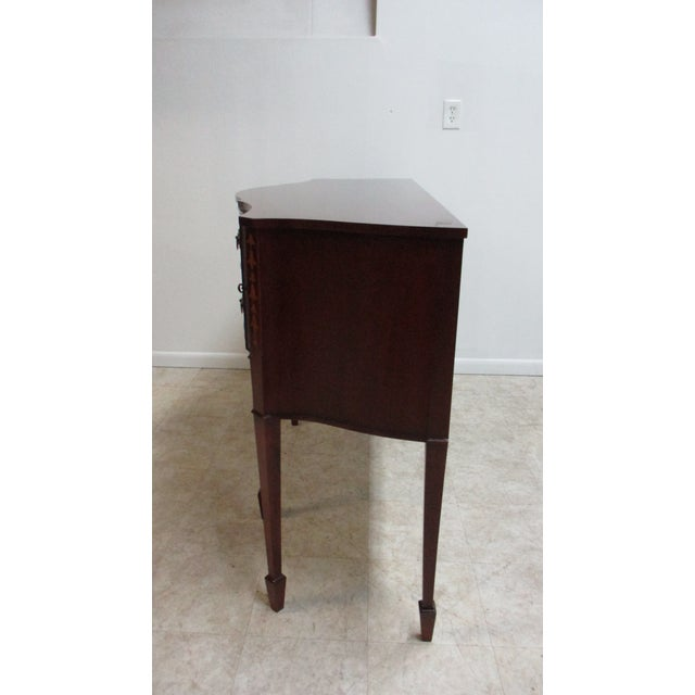 1990s Mahogany Federal Banded Sideboard For Sale - Image 11 of 13