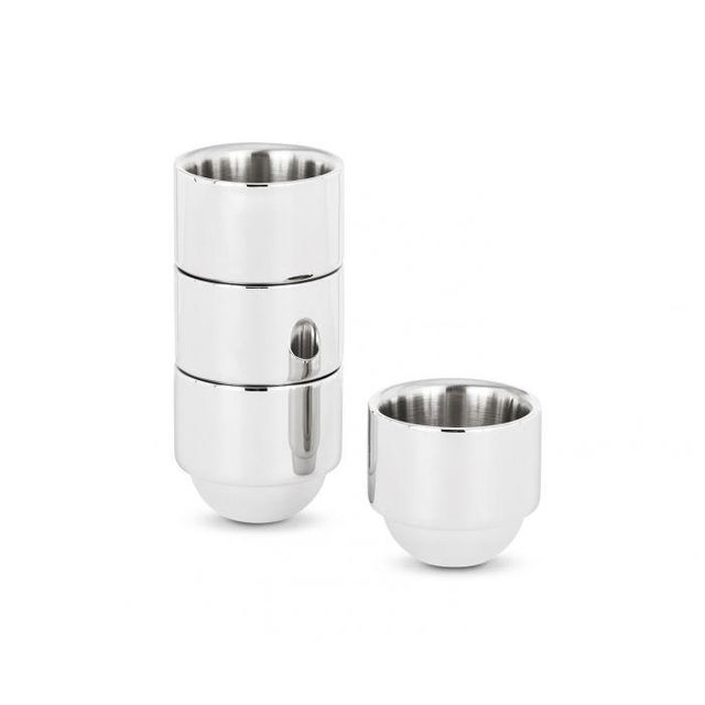 2010s Tom Dixon Brew Espresso Cups Stainless Steel For Sale - Image 5 of 5