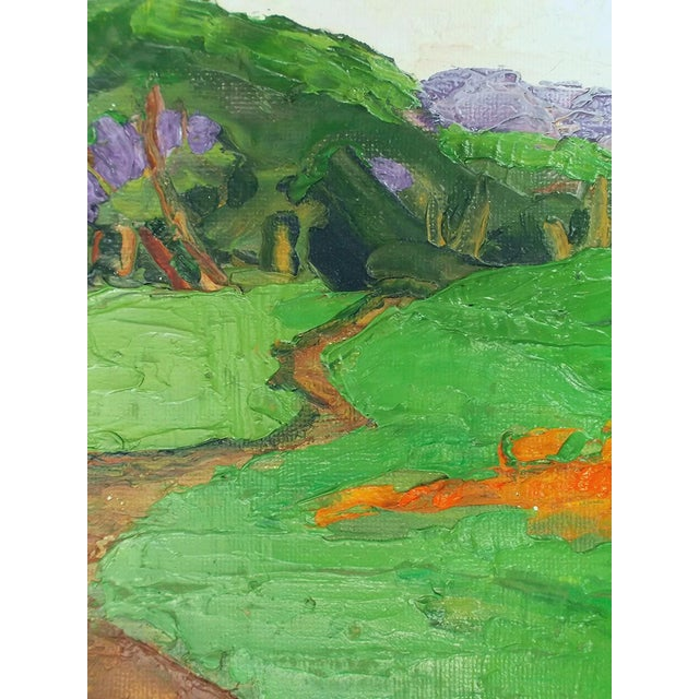 Contemporary Lynne French California Landscape Poppy Hills Original Painting For Sale - Image 3 of 6