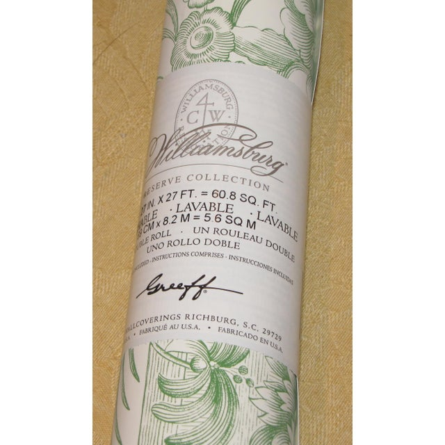 Schumacher Schumacher Wallpaper Colonial Williamsburg Collection Asian Toile in Jade Green Double Roll For Sale - Image 4 of 5