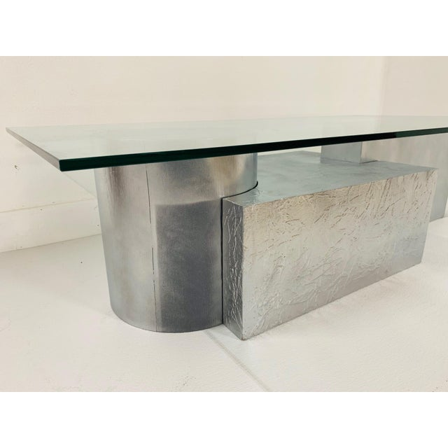 Resin Three-Piece Geometrical Coffee Table For Sale - Image 7 of 8