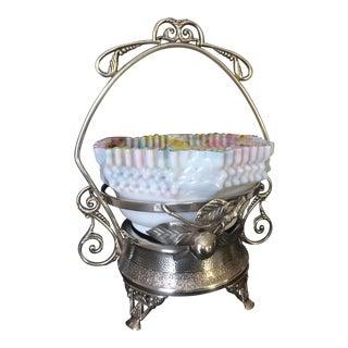 19th Century Bride's Basket For Sale