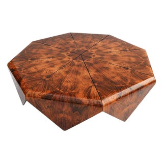 Jorge Zalszupin 1960s Brazilian Jacaranda Petalas Coffee Table For Sale