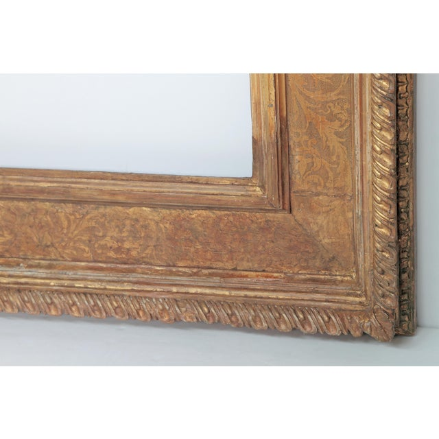 Monumental Hand-Carved and Gilded Florentine Picture Frame For Sale In Dallas - Image 6 of 11