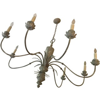 """45 """" Diamter Shabby Chic 8 Arm Chandelier For Sale"""