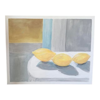 """Lemons"" Acrylic on Canvas Painting For Sale"