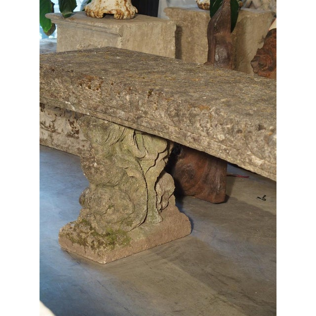 Circa 1900 Reconstituted Stone Dolphins Bench From France For Sale - Image 12 of 13