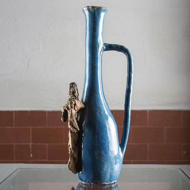 Renato Bassoli Ceramic Bottle by Renato Bassoli For Sale - Image 4 of 7