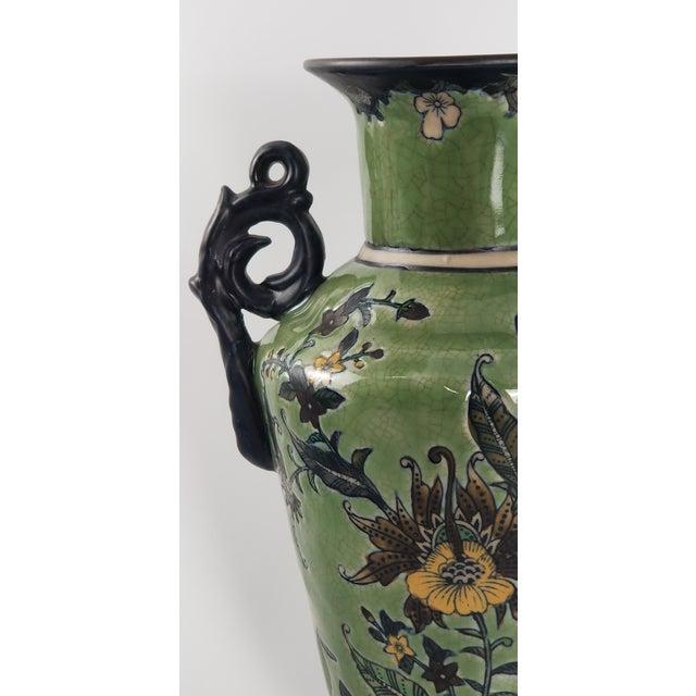 Monumental Baum Bros Vase - Jacobean Urn With Handles For Sale - Image 9 of 13