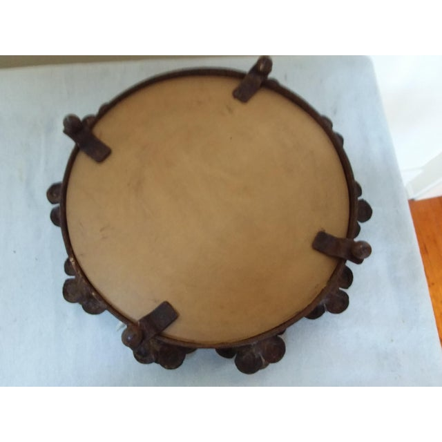 Shabby Chic Rusted Iron & Mirror Plateau Candle Holder For Sale - Image 3 of 5