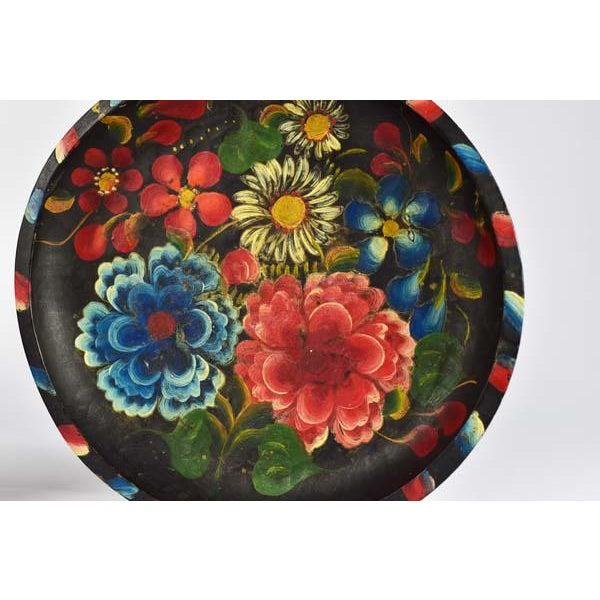 Boho Chic Mexican Folk Art Batea Bowls - A Pair For Sale - Image 3 of 6