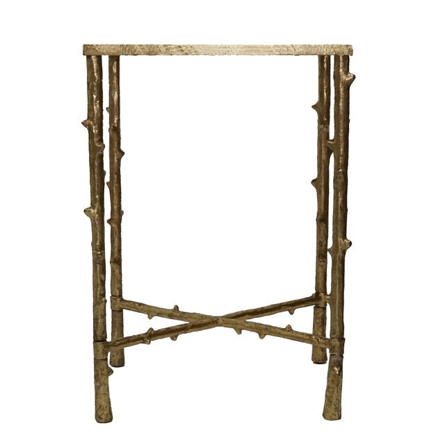 Glostrup Square End Table With Mirrored Top For Sale - Image 4 of 5