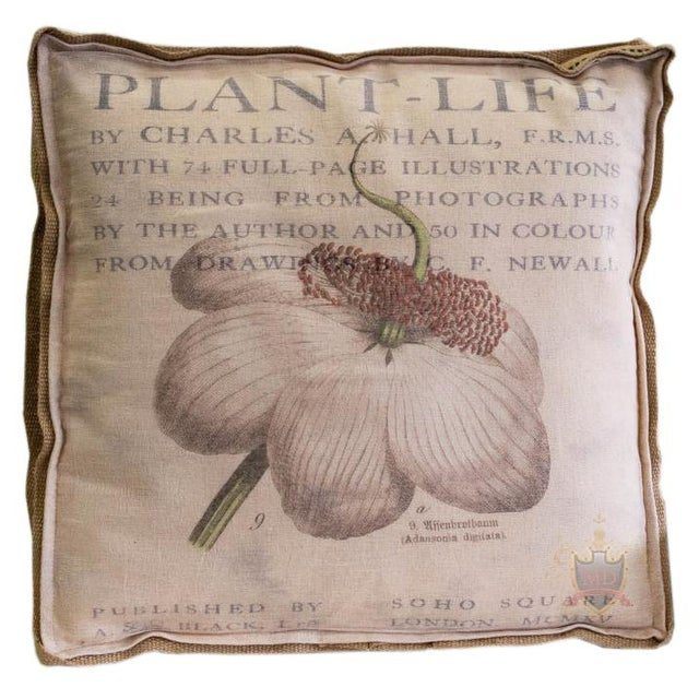 Farmhouse Farmhouse Inspired Multi Layered Botanical Box Pillow For Sale - Image 3 of 3