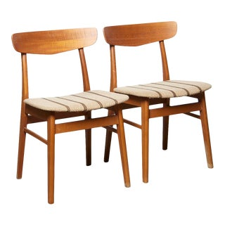 Vintage Danish Teak Dining Chairs 1960s - a Pair For Sale