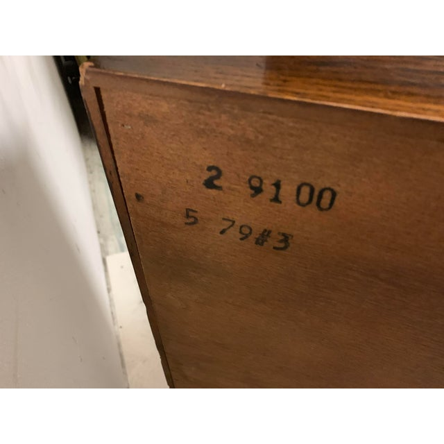 Campaign Pair of Campaign Style Chests Att. To Henredon For Sale - Image 3 of 9