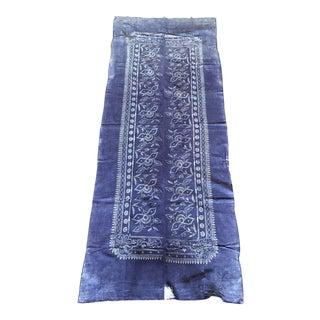 Indigo & White Antique Batik Fabric