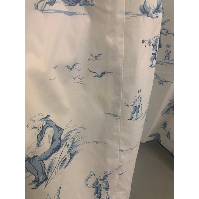 Custom Brunschwig & Fils Fabric Skirted Vanity Table For Sale - Image 10 of 12