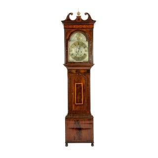 19th Century Inlay Mahogany Wood Long Case Clock For Sale
