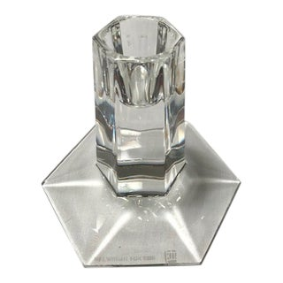 Frank Lloyd Wright Short Crystal Candlestick For Sale