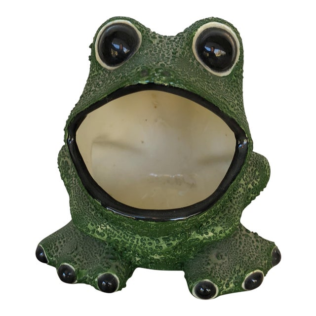 Mid-Century Modern Frog Planter For Sale