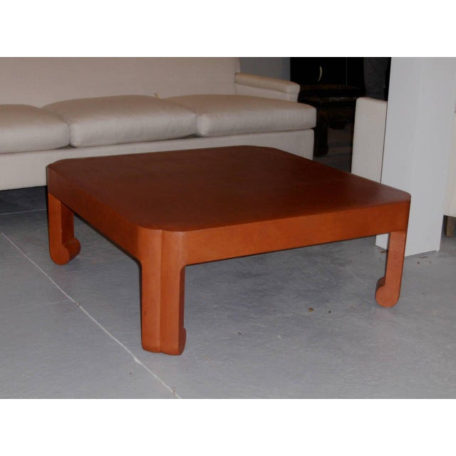 The late Mark Hampton, a icon of American interior design, commissioned this linen wrapped low table for a client on...