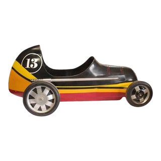 """Vintage """"Lucky 13"""" Soap Box Derby Carnival Ride Car"""